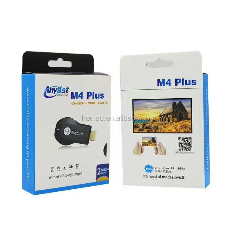 AnyCast M4 Più Interfaccia TV Stick DLNA Airplay Miracast Wifi Display Dongle Ricevitore 1080 P