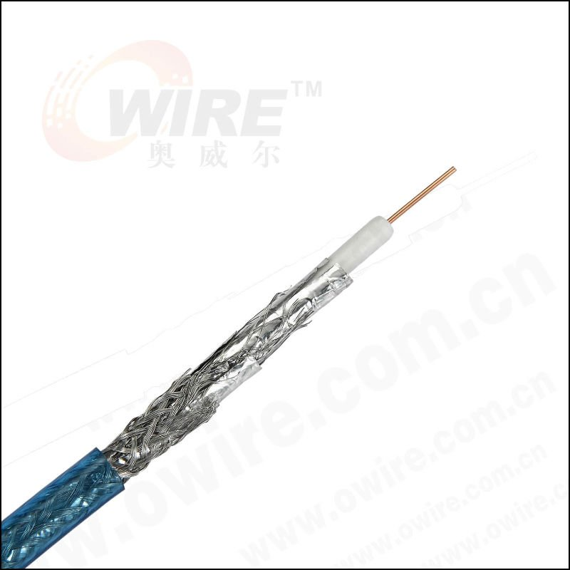 RG Coaxial Cable with Shields, Suitable for Video and Signal Transmission System