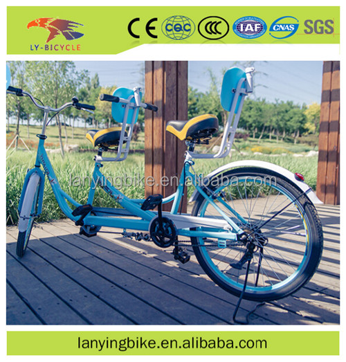 china factory 2 seat bicycle/2 person surrey tandem bike/sightseeing bike for two person