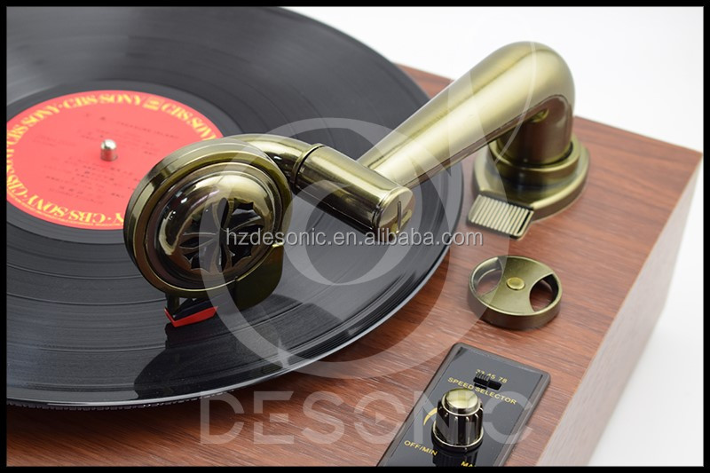 Antique Phonograph Lp Records Player Nostalgic Gramophone