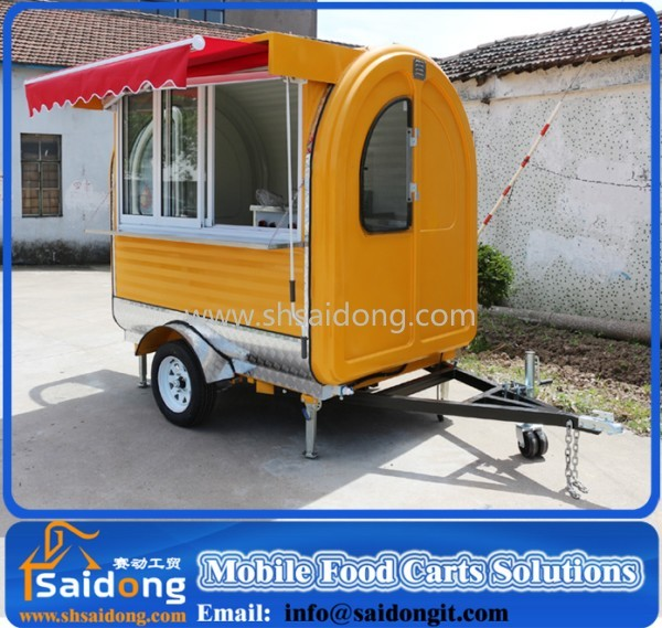 Top Sale Electric Food Vending Cart Used Coffee Truck with Sliding Sale Window
