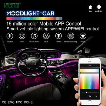 Moonlight Car Interior Led Light 12v Smart Mobile Control Decoration Kit A