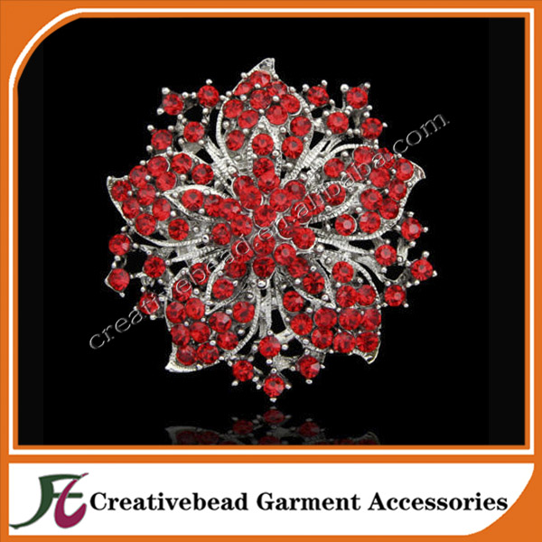 young ladies fashion accessories jewelry flower shape charming brooches,bridal crystal rhinestone brooches