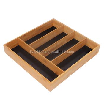 5-slot Bambus Schublade Veranstalter Große Größe Küche Schubladen ...
