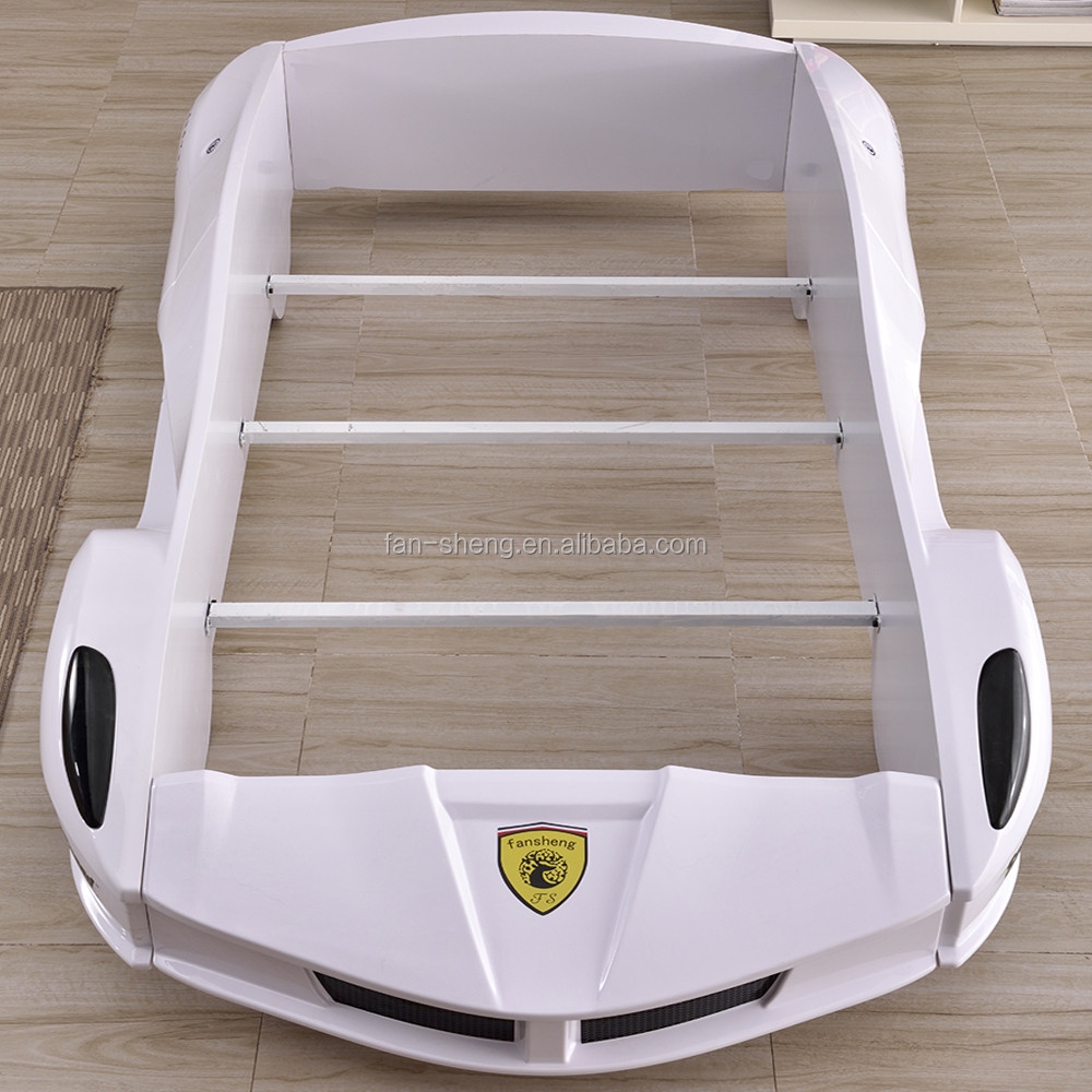 FERRARI PRINCE WHITE ABS PLASTIC CHILDREN KIDS RACE CAR BED SPECIFIC USE