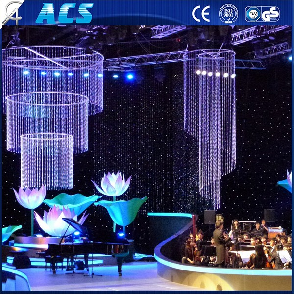 ACS led star curtain/resistant velvet stage backdrop&wedding party Curtain