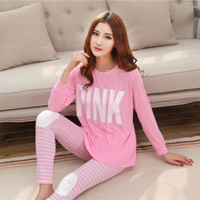 19 Styles Casual Women Pajamas Set Cartoon O Neck Long Sleeve font b Pyjamas b font