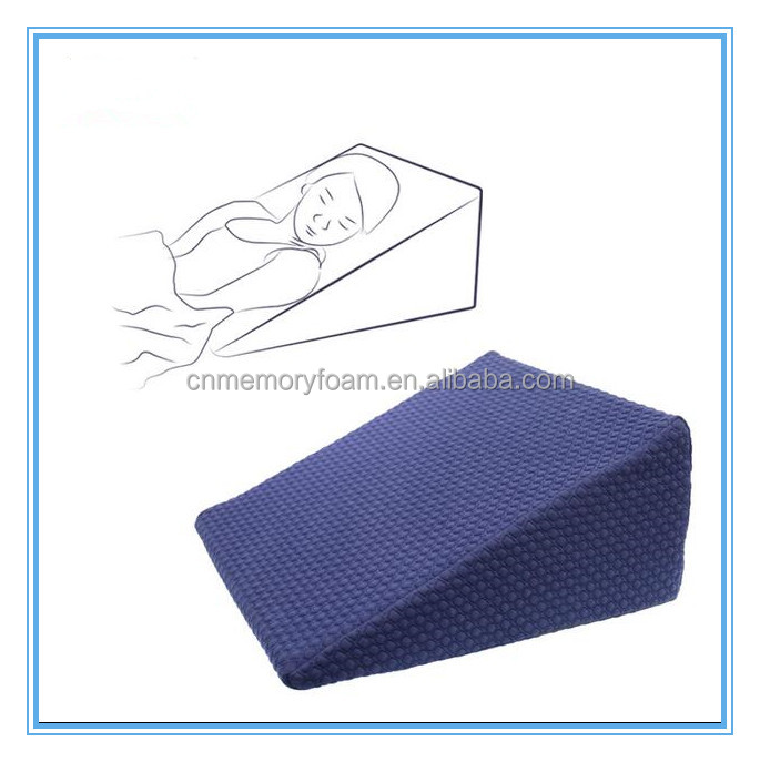 Wholesale Bed Wedge Supportive Memory Foam Leg Rest Cushion Pillow for Elevating Leg Rest Improving