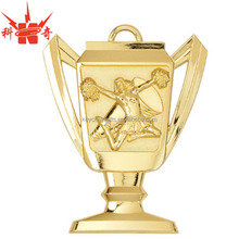 High quality custom gold cheerleading medal trophy