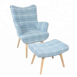 New Design Lounge Chair And Ottoman For Living room Chair,Lounge Upholstered With Footstool