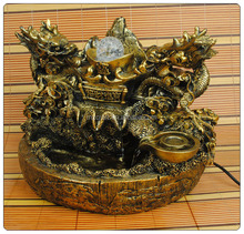 Antique Style Resin Dragon Water Fountain for Gifts 13016
