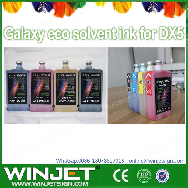 Galaxy inkjet water based eco solvent ink/printing ink for DX5/DX7 head /solvent ink cleaning flush