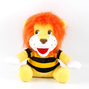 Custom design peluche stuffed lion with T-shirt soft lion plush toy