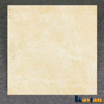 600x600mm Non Slippery Beige Glazed Porcelain Polished Floor Tiles