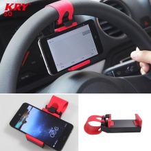Universal Car Steering Wheel Bike Clip Mount Rubber Band Holder For iPhone Samsung Lenovo HTC iPod Mobile Phone Bracket ZJ07