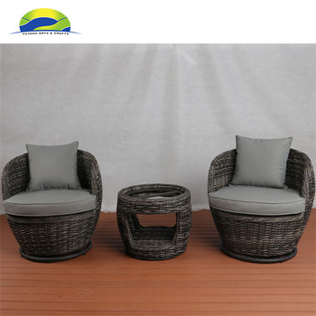 Rattan Outdoor Nest Chair Egg Shaped Garden With Coffee Table
