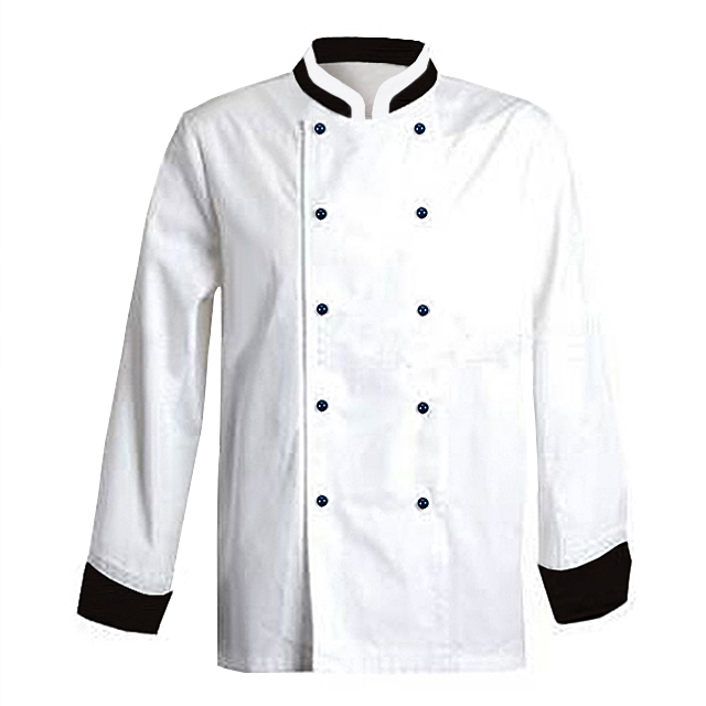 2019 New Quality Competitive White Chef Coat Autumn/Spring Chef Uniform OEM Cheap Double-breasted Kitchens Cook Uniforms