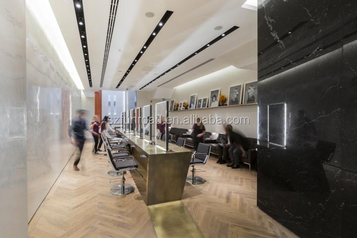 Fantastic display counter in beautiful hair salon interior design ...