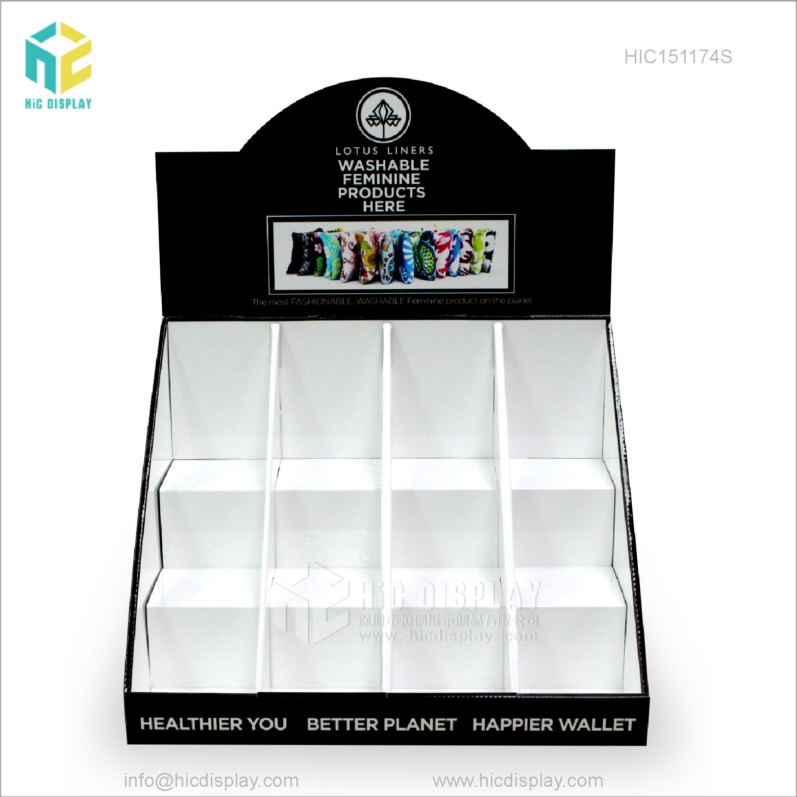 HIC Cardboard Countertop Display Box Paper Display Box