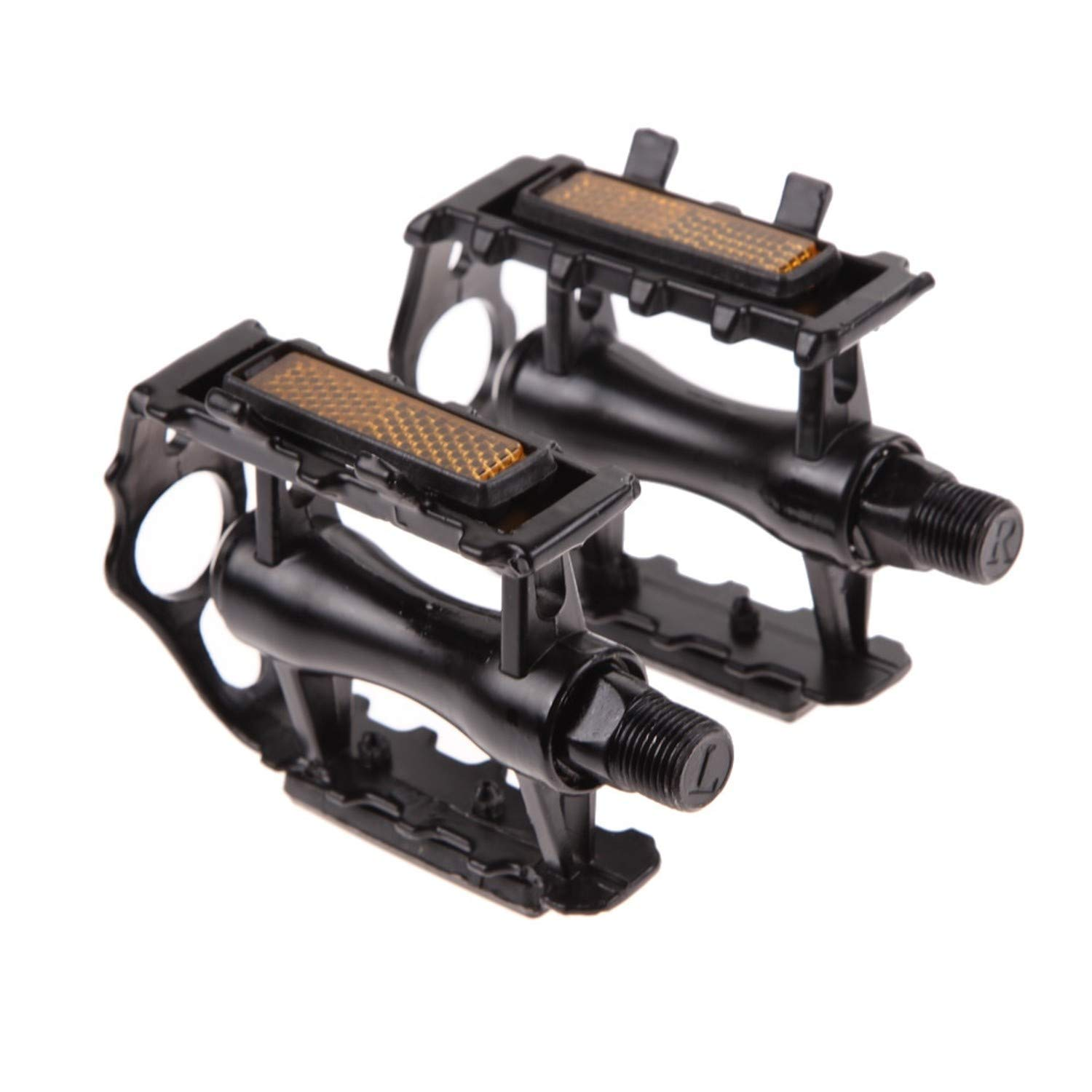 Bicycle Pedals Alloy Flat Platform Bearing Pedal Foot for Road Mountain Bike MTB