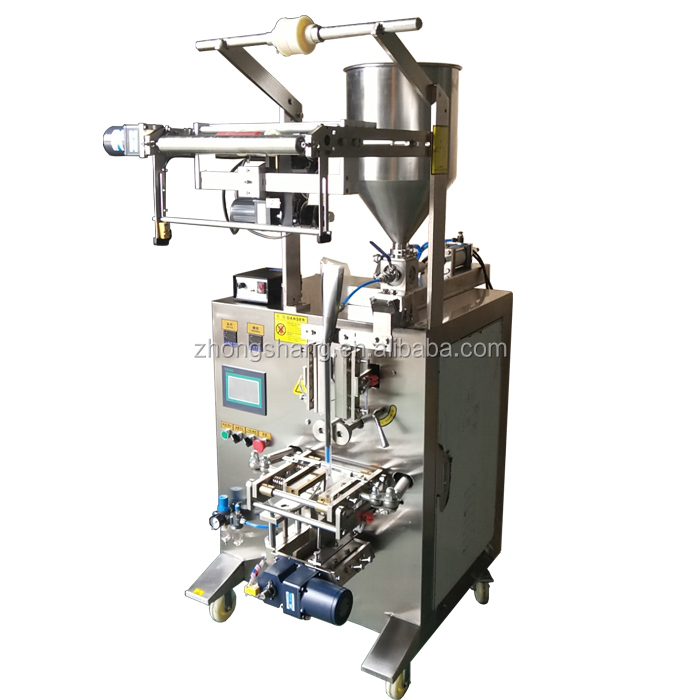 Factory automatic three sides seal bags honey vertical paste packing machine for sale