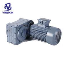 china helica F series manufacturing industry parallel axis gear dc motor bevel wheel speed reducer hollow shaft worm gearbox