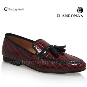 New arrive men pu leather shoes tassel loafer shoes with OEM logo