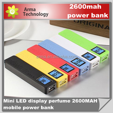 power bank with led digital display wholesale factory price 2600mah powerbank