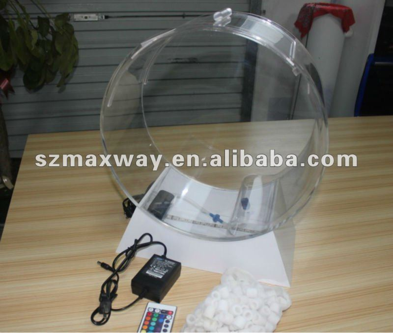 Transparent round LED high grade acrylic fish tank