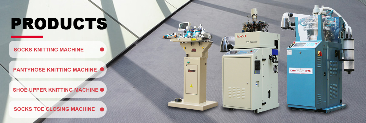 ROSSO-7F hetzelfde als lonati sokken breien machine volledig geautomatiseerde katoenen sokken maker machine