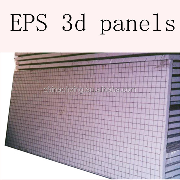 building construction Insulation 3d eps steel mesh wall panel