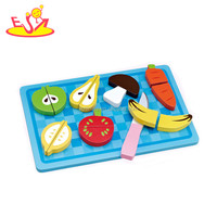 Wholesale hot sale wooden fruit cutting toy high quality kids wooden fruit cutting toy W10B059