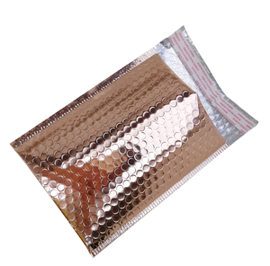 Different Size Rose Gold Poly Custom Bubble Mailer