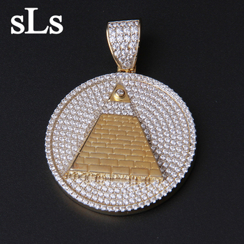 logo block d diamond pendants men custom metal pendant jewelry silver mens s