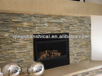 Elegant Grey Slate Stacked Wall Coating Stone Wall Veneer Brick Tiles  Interior Decorative Brick Walls Interior Stone With Indoor Stone Wall Panels
