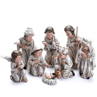 Hand Painted Resin Christmas Nativity Set Religious Figurines