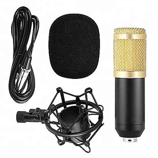 High Quality BM-800 Condenser Sound Studio Recording Broadcasting Microphone,handheld recordable microphone, Black/blue/pink/red/ gold/ gray/ white