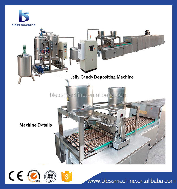 2017 Professional manufacturer small jelly candy making machine with Alibaba trade assurance