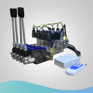 ZHONGYUAN 45LPM hydraulic monoblock directional control valve ZT-L12-4OT  wireless remote control