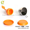Good quality OEM fashion micro injection silicone stainless steel tea strainer,silicone infuser, silicone tea ball