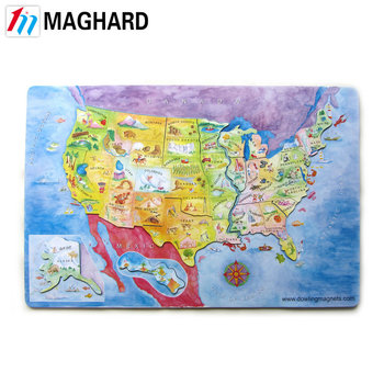 Magnetic Usa Puzzle Magnetic Map - Buy Magnetic Map,Magnetic Puzzle,Magnet  Map Product on Alibaba.com
