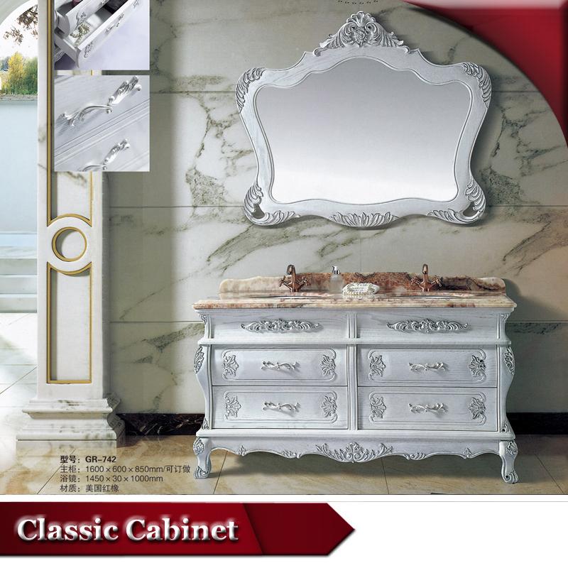 HS G742 De Luxe Classique Lowes Double Evier Vanite Salle Bain
