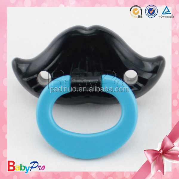 2016 Hot Sale Funny Design Eco-Friendly Personalized Mustache Baby Pacifiers Silicone Pacifier