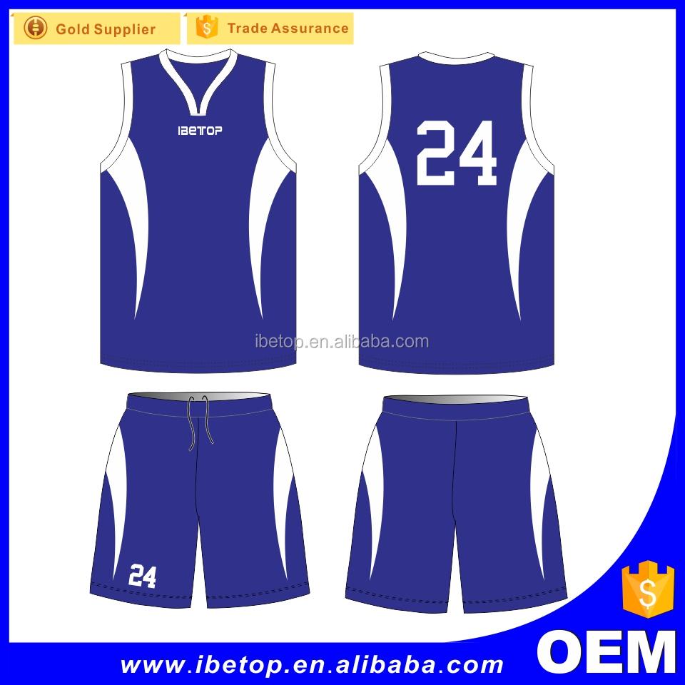 8cf8e8c38de 2017 Latest Team Basketball Jersey Uniform Design Color Blue - Buy ...