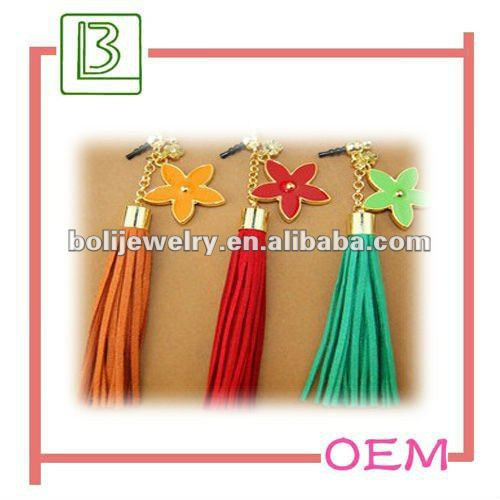 hot sale pretty tassel dust plug for iphone dust plug