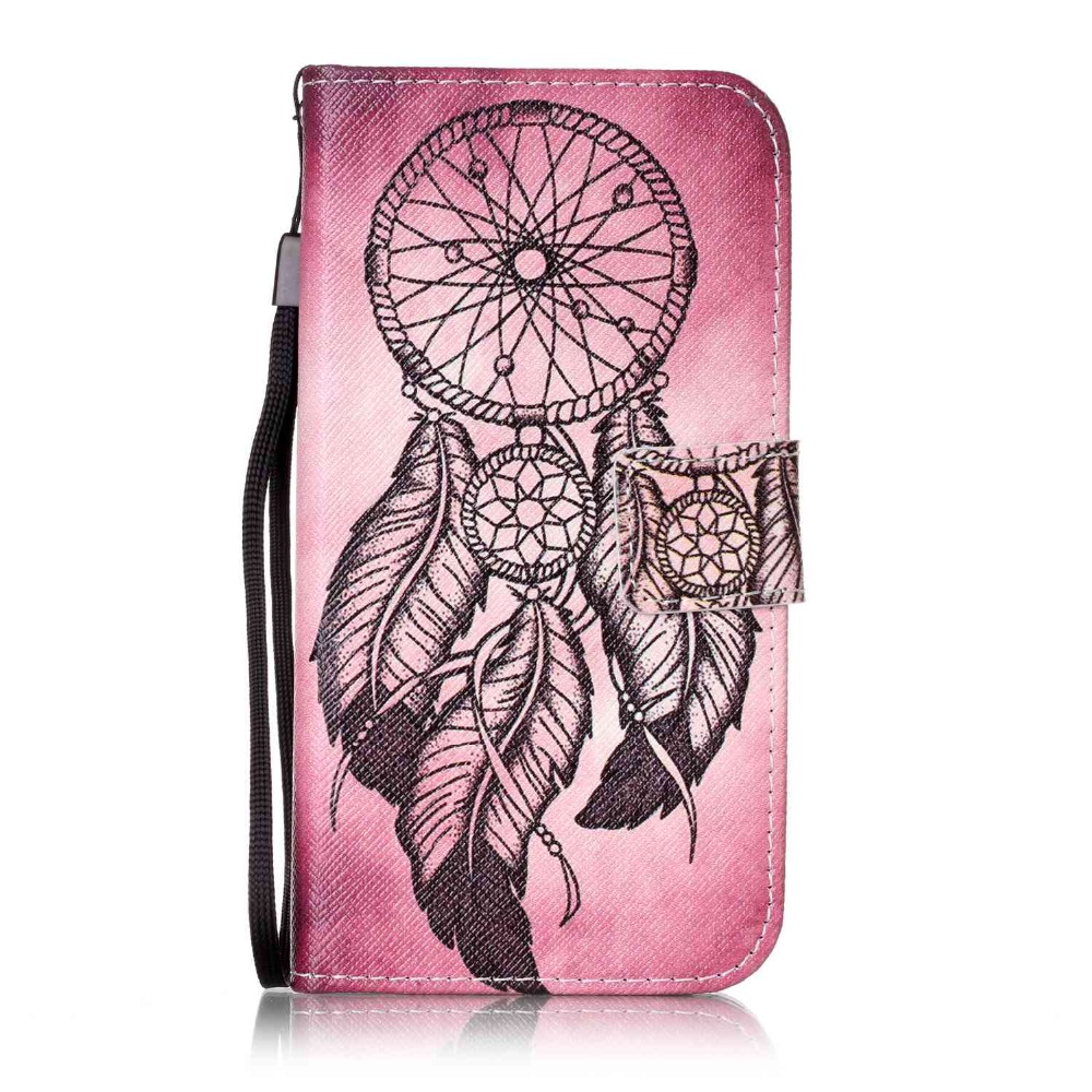 Painted Flip Case Wallet Leather Cover for LG X Screen Colored Drawing flip case