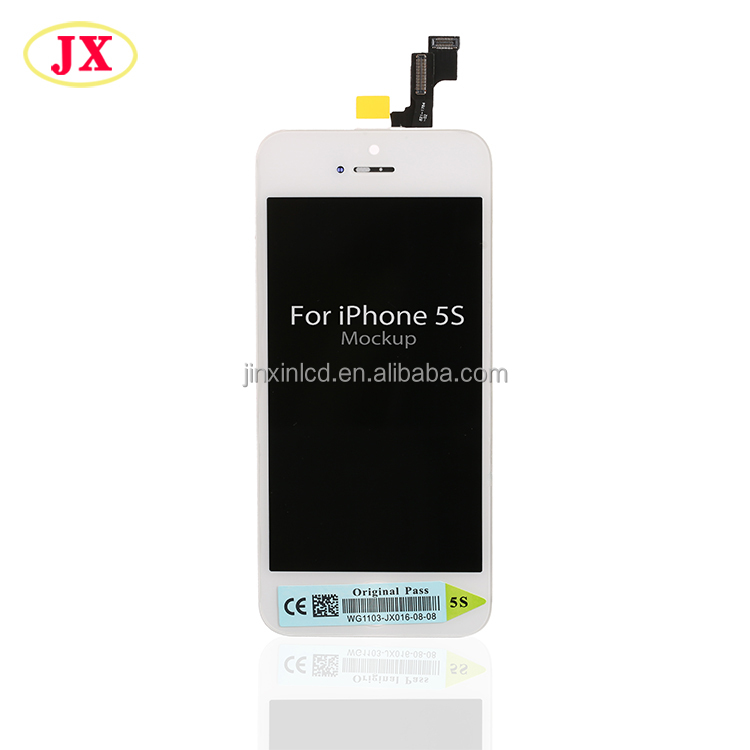 2016 original novo lcd full para iphone 5S tela lcd, para o iphone 5S lcd tela de toque digitador assembléia