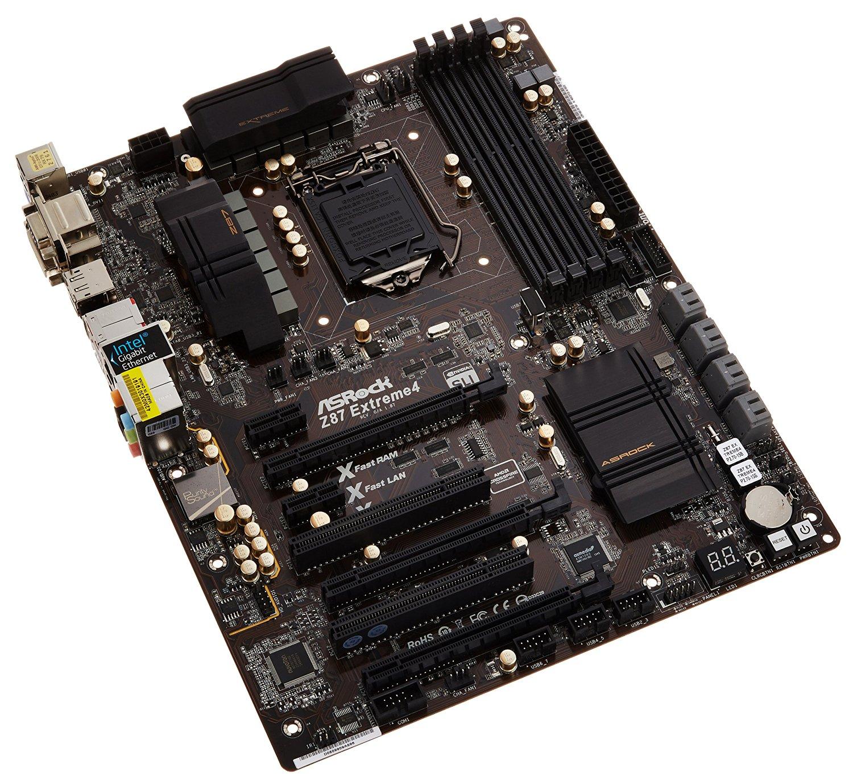 ASRock Z87 EXTREME4 LGA1150/ Intel Z87/ DDR3/ Quad CrossFireX & Quad SLI/ SATA3&USB3.0/ A&GbE/ ATX Motherboard
