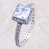 Alluring Brilliant Silver Rings for Wedding Engagement 925 rings jewelry
