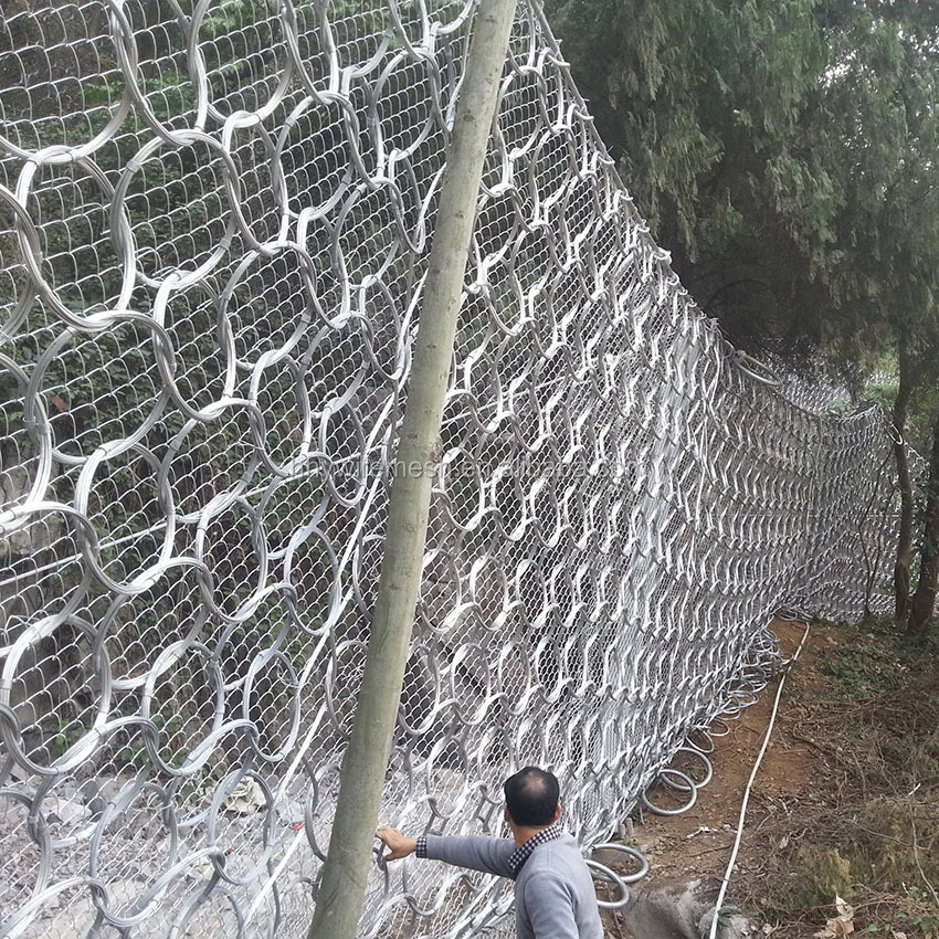 Slope Protection Wire Mesh debris flow netting slope ring net